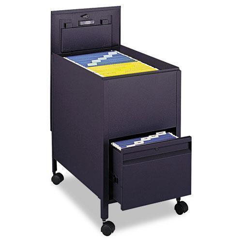 Safco Locking Mobile Tub File With Drawer, Letter Size, 17w X 26d X 28h, Black-Safco®-Omni Supply
