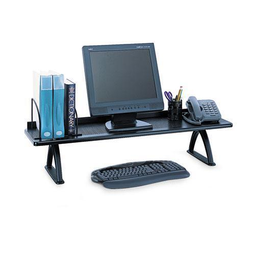 Safco Value Mate Desk Riser, 100-Pound Capacity, 42 X 12 X 8, Black-Safco®-Omni Supply
