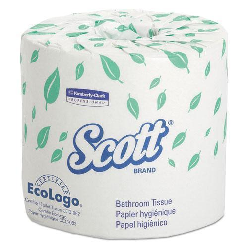 Scott Standard Roll Bathroom Tissue, 2-Ply, 550 Sheets-roll, 20 Rolls-carton-Scott®-Omni Supply