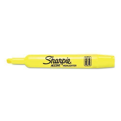 Sharpie Accent Tank Style Highlighter, Chisel Tip, Fluorescent Yellow, 36-box-Sharpie®-Omni Supply