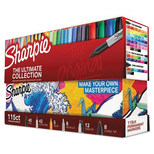 Sharpie Permanent Markers Ultimate Collection, Assorted Tips, 16 Assorted Colors-Sharpie®-Omni Supply