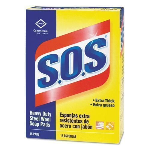 S.O.S. Steel Wool Soap Pad, 15 Pads-box-S.O.S.®-Omni Supply