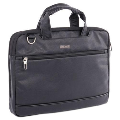 "STEBCO Harold Slim Briefcase, 11"" X 3"" X 11.5"", Synthetic Leather, Black-STEBCO-Omni Supply"
