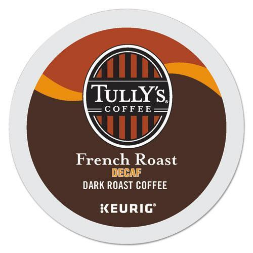 Tully'sCof French Roast Decaf Coffee K-Cups, 96-carton-Tully's Coffee®-Omni Supply
