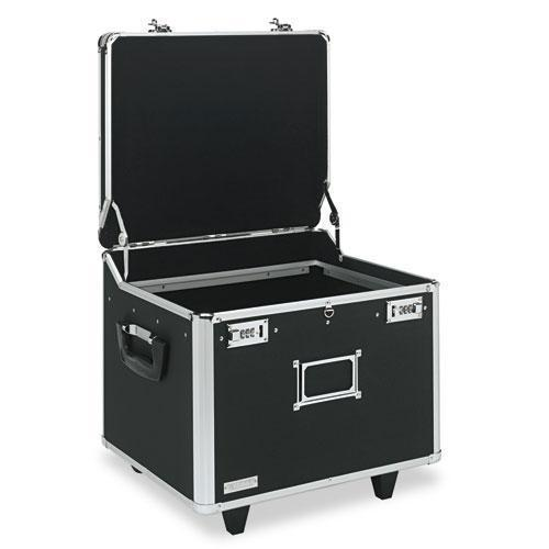 Vaultz Locking Mobile File Chest, Letter-legal, 15 1-4 X 12 1-4 X 11 1-2, Black-Vaultz®-Omni Supply