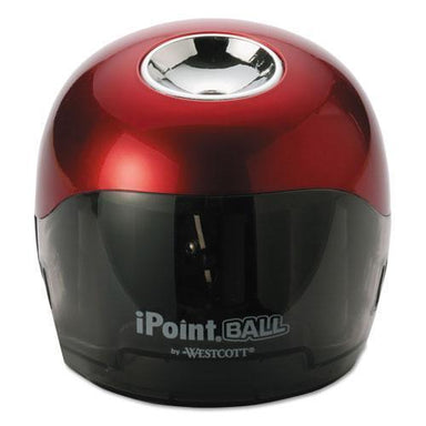 Westcott IPOINT BALL BATTERY SHARPENER, RED-BLACK, 3W X 3D X 3 1-3H-Westcott®-Omni Supply