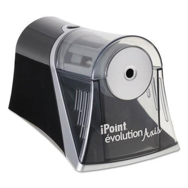 Westcott IPOINT EVOLUTION AXIS PENCIL SHARPENER, BLACK-SILVER, 4 1-4 W X 7D X 4 3-4H-Westcott®-Omni Supply