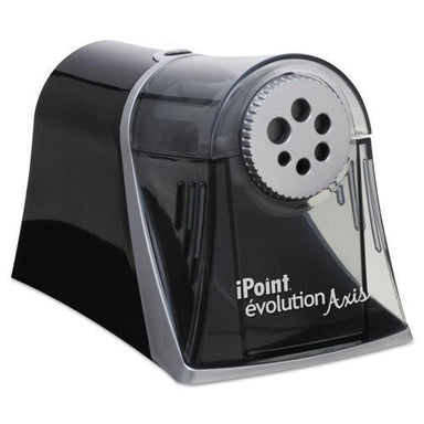 Westcott IPOINT EVOLUTION AXIS PENCIL SHARPENER, BLACK-SILVER, 5W X 7 1-2 D X 7 1-4H-Westcott®-Omni Supply