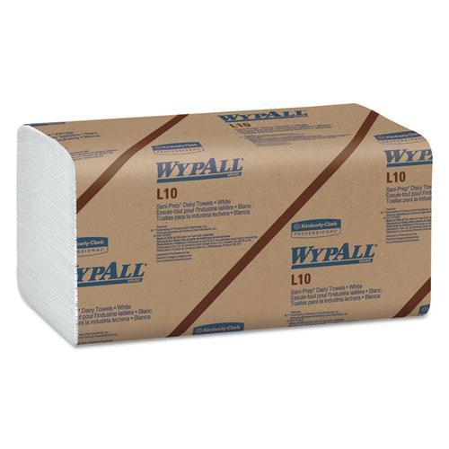 Wypall L10 Sani-Prep Dairy Towels, Banded, 1-Ply, 10 1-2 X 9 3-10, 200-pk, 12 Pk-carton-WypAll®-Omni Supply