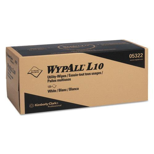 Wypall L10 Towels Pop-Up Box, 1ply, 12x10 1-4, White, 125-box, 18 Boxes-carton-WypAll®-Omni Supply