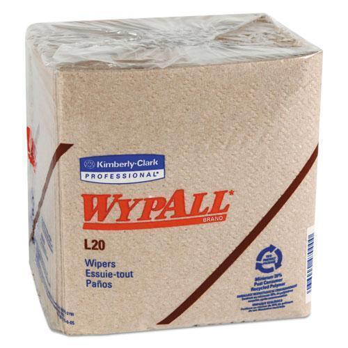 Wypall L20 TOWELS, 1-4 FOLD, 2-PLY, 12 1-2 X 12, BROWN, 68-PACK, 12 PACKS-CARTON-WypAll®-Omni Supply