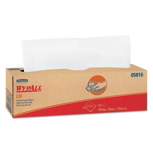 Wypall L30 Towels, Pop-Up Box, 9 4-5 X 16 2-5, 120-box, 6 Boxes-carton-WypAll®-Omni Supply