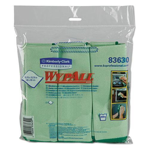 Wypall Microfiber Cloths, Reusable, 15 3-4 X 15 3-4, Green, 24-carton-WypAll®-Omni Supply