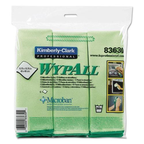 Wypall Microfiber Cloths, Reusable, 15 3-4 X 15 3-4, Green, 6-pack-WypAll®-Omni Supply