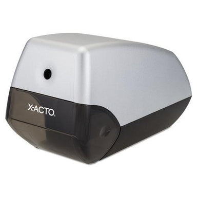 X-ACTO Helix Office Electric Pencil Sharpener, Silver-black-X-ACTO®-Omni Supply