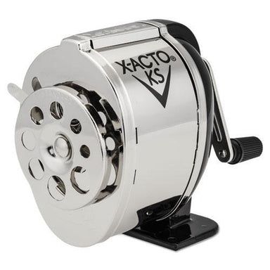 X-ACTO Ks Manual Classroom Pencil Sharpener, Counter-wall-Mount, Black-nickel-Plated-X-ACTO®-Omni Supply