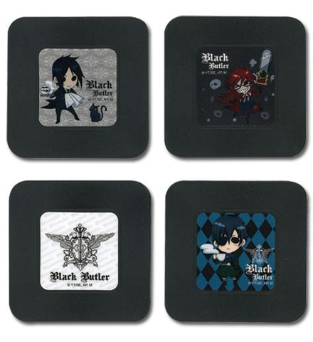 Black Butler: Four Piece Coaster Set 1