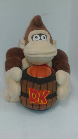 "Super Mario Bros.: Donkey Kong with Barrel 9"" Plush"