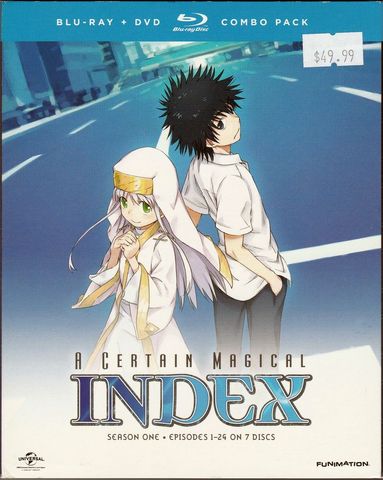 A Certain Magical Index Complete Season 1 Blu-ray/DVD Combo Pack