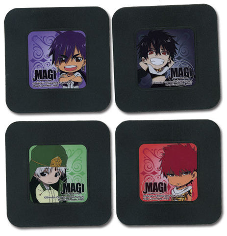 Magi the Labyrinth of Magic: Four Piece Coaster Set