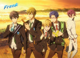 Free!: Group Sunset Wall Scroll