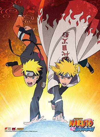 Naruto Shippuden: Naruto & Minato High-End Wall Scroll
