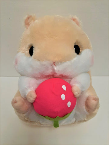 "Amuse: Beige Hamster with Strawberry 14"" Plush"