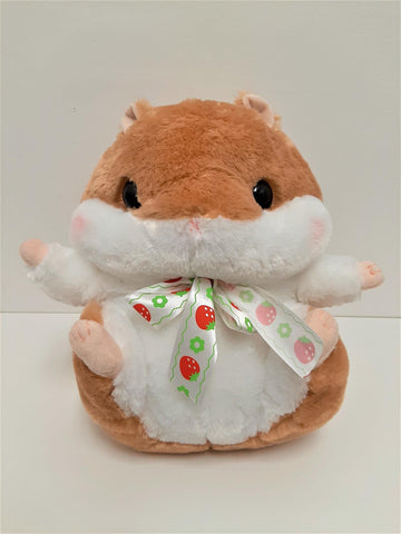 "Amuse: Brown Hamster with Bow 14"" Plush"