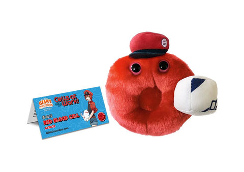 Cells at Work: X GIANTmicrobes Red Blood Cell Plush