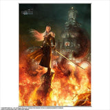 Final Fantasy VII Remake: Sephiroth Burning Midgar Wall Scroll