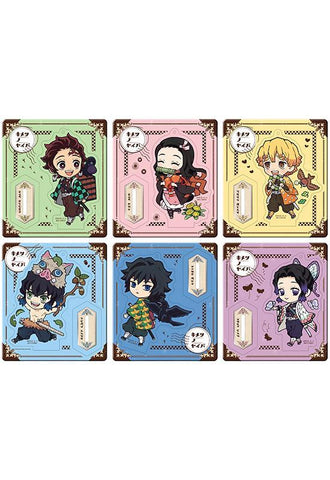 Demon Slayer: Retro Acrylic Stand Outing Set Colourful Ver. (1 Random Blind Box)