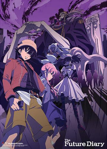 Future Diary: Group Purple Fabric Poster
