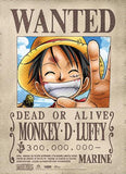 One Piece: Luffy Wanted Fabric Poster