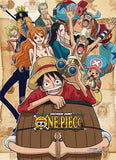 One Piece: Group Barrel Hi-End Wall Scroll