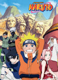 Naruto: Team 7 & Hokage Mountain Wall Scroll