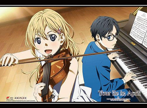 Your Lie in April: Music Ensemble Wall Scroll