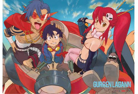 Gurren Lagann: Group in Mecha Wall Scroll