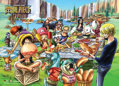 One Piece: Dog Picnic Wall Scroll