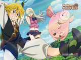 Seven Deadly Sins: Elizabeth, Meliodas & Hawk Jump Wall Scroll
