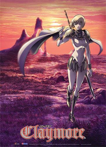 Claymore: Clare Sunset Wall Scroll