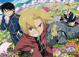 Fullmetal Alchemist Brotherhood: Group Flowers High-End Wall Scroll