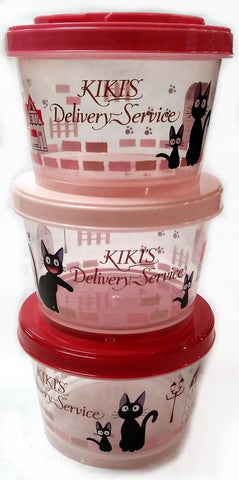 Kiki's Delivery Service: Stackable Kiki's Town Cylinder Lunch Carrier Set of 3