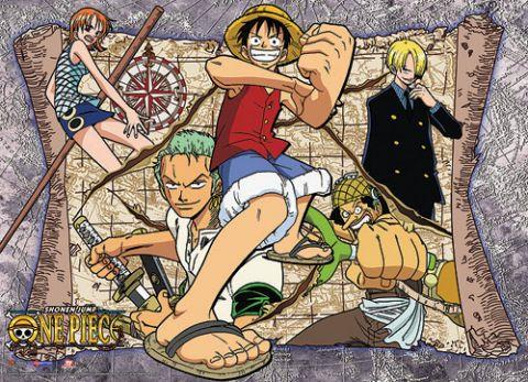 One Piece: Group Map Fabric Poster