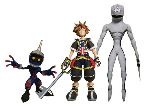 Kingdom Hearts II: Sora, Dusk & Soldier Collector's Action Figure Set