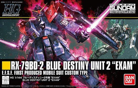 "Gundam: RX-79BX-2 Blue Destiny Unit 2 ""Exam"" (Univeral Century) Model"