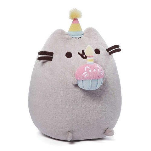 "Pusheen: Pusheen with Birthday Cupcake 10.5"" Plush"