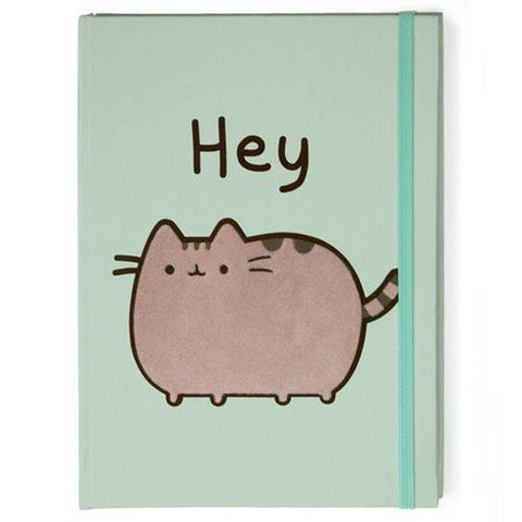 "Pusheen: Green Journal ""Hey"""