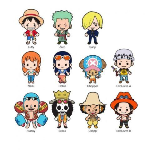 One Piece: Die Cut Key Chain Blind Bag (1 random key chain)
