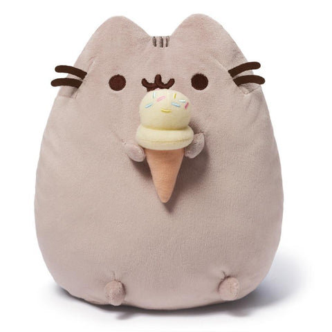 "Pusheen: Pusheen with Ice Cream Cone 9.5"" Plush"