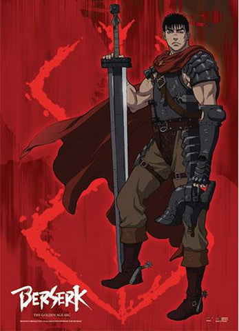 Berserk: Guts & Brand of Sacrifice Fabric Poster